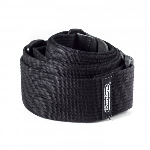 Pasek do gitary Dunlop Ribbed Cotton Black D27-01BK