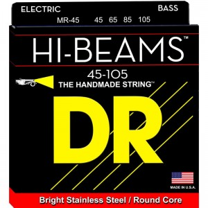 Struny DR Hi-Beams™ Stainless Steel Round Core 45-105 (MR-45)