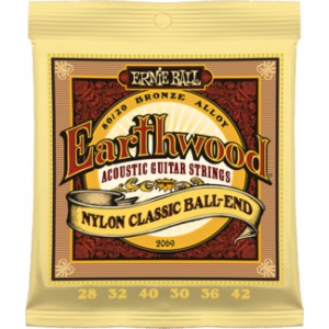Struny Ernie Ball Earthwood Nylon Classic Ball-End 28-42 (2069)