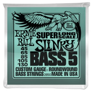 Struny Ernie Ball Slinky Super Long Scale 5-string Bass Nickel Wound 45-130 (2850)