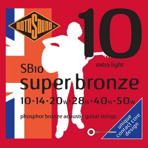 Struny Rotosound Super Bronze Phosphor Bronze Acoustic Extra Light 10-50 (SB10)