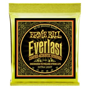 Struny powlekane Everlast Extra Light Coated 80/20 Bronze Acoustic 10-50 (2560)