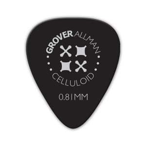 Kostka gitarowa Grover Allman Celluloid Pro Black 0.81mm