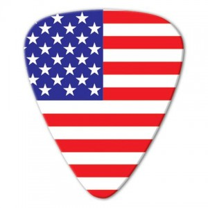 Kostka gitarowa Grover Allman World Flags USA .80mm