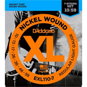 Struny D'Addario EXL110-7 Nickel Wound 7-String Regular Light 10-59