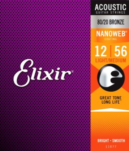 Struny Elixir NanoWeb 80/20 Bronze 12-56 Light-Medium (11077)