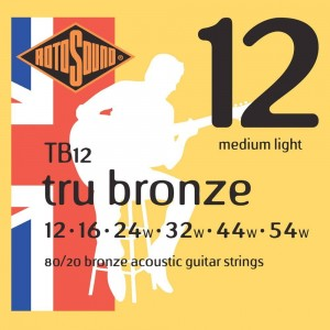 Struny Rotosound Tru Bronze 80/20 Bronze Acoustic Medium Light 12-53 (TB12)