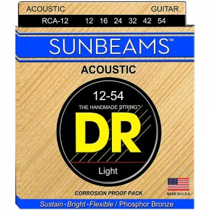 Struny DR Sunbeams™ Acoustic Phosphor Bronze Light 12-54 (RCA-12)
