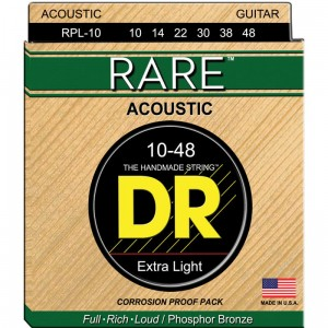 Struny DR Rare Acoustic Phosphor Bronze Extra Light 10-48 (RPL-10)