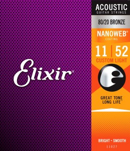 Struny Elixir NanoWeb 80/20 Bronze 11-52 Custom Light (11027)