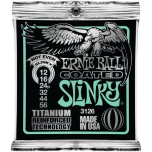 Struny Ernie Ball Coated Titanium RPS Not Even Slinky 12-56 (3126)