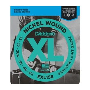 Struny D'Addario EXL158 Nickel Wound Baritone Light 13-62
