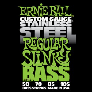 Struny Ernie Ball Stainless Steel Regular Slinky Bass 50-105 (2842)