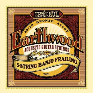 Struny Ernie Ball Earthwood 5-strings Banjo Frailing 10-24 (2061)