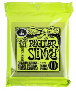 3 x Struny Ernie Ball Regular Slinky Nickel  Wound 10-46 (3221)