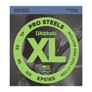 Struny D'Addario EPS165 ProSteels Bass, Custom Light, 45-105, Long Scale