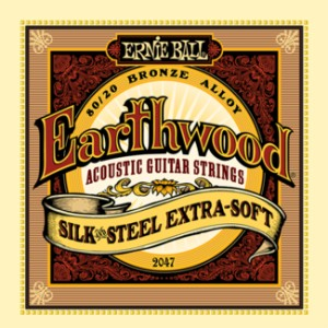 Struny Ernie Ball Earthwood Silk & Steel  Extra Soft Acoustic 80/20  Bronze (2047)