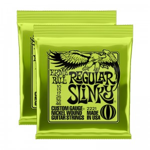 2 x Struny Ernie Ball Regular Slinky Nickel Wound 10-46 (2221)