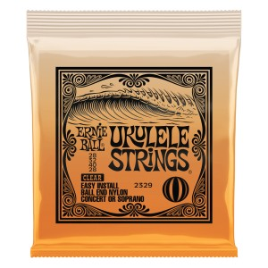 Struny do ukulele sopran/koncert Ernie Ball Clear Ball End 2839