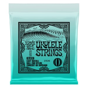Struny do ukulele sopran/koncert Ernie Ball Black Ball End 2326