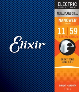 Struny Elixir NanoWeb 11-59 7-String Medium (12106)