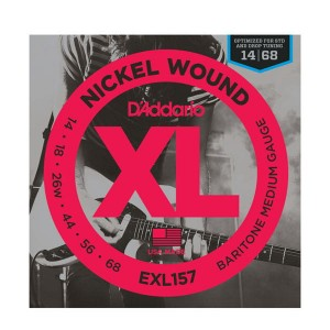 Struny D'Addario EXL157 Nickel Wound Baritone Medium Gauge 14-68