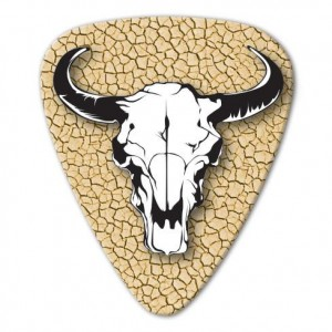 Kostka gitarowa Grover Allman Country Cattle Skull .80mm