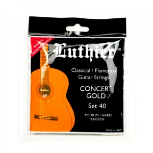 Struny Luthier Concert Gold Medium/Hard Tension Set 40