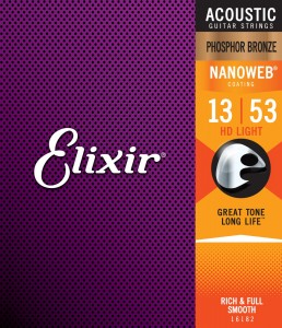 Struny Elixir NanoWeb Phosphor Bronze 13-53 HD Light (16182)