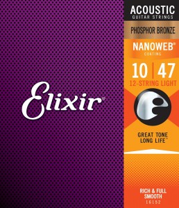 Struny Elixir NanoWeb 80/20 Bronze 10-47  12-String Light (11152)