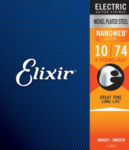 Struny Elixir NanoWeb 10-74 8-String Light (12062)