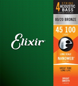 Struny Elixir NanoWeb 4-String Acoustic 45-100  Light/Long Scale (14502)