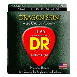 Struny DR Dragon Skin Hard Coated Acoustic Phosphor Bronze 11-50 (DSA-11)