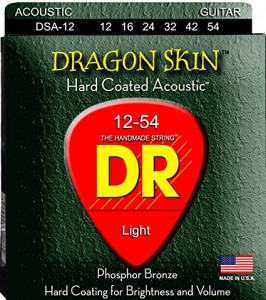 Struny DR Dragon Skin Hard Coated Acoustic Phosphor Bronze 12-54 (DSA-12)
