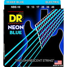 Struny DR Neon™ Hi-Def Blue Electric K3 Coating 10-46 (NBE-10)