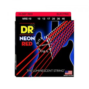 Struny DR Neon™ Hi-Def RED Electric K3 Coating 10-46 (NRE-10)