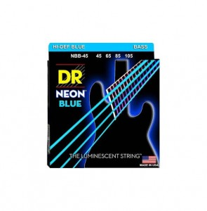 Struny DR Neon™ Hi-Def Blue Bass K3 Coating 45-105 (NBB-45)