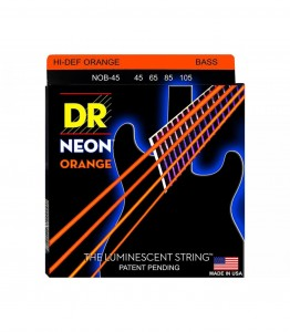 Struny DR Neon™ Hi-Def Orange Bass K3 Coating 45-105 (NOB-45)