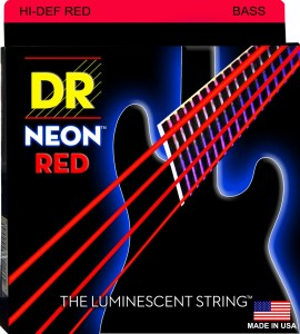 Struny DR Neon™ Hi-Def RED Bass K3 Coating 45-105 (NRB-45)