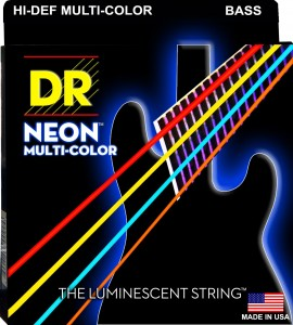 Struny DR Neon™ Hi-Def Multi Colour Bass K3 Coating 45-105 (NMCB-45)