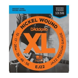 Struny D'Addario EJ22 Nickel Wound Jazz Medium 13-56