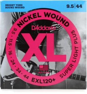 Struny D'Addario EXL120+ Nickel Wound Super Light Plus 9.5-44