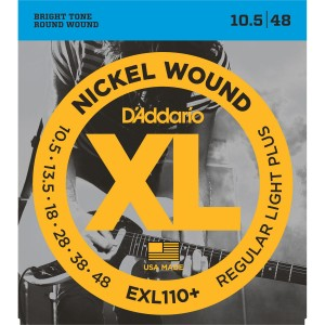 Struny D'Addario EXL110+ Nickel Wound Regular Light Plus 10,5-48