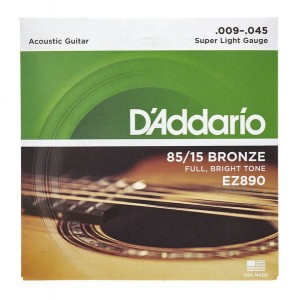 Struny D'Addario EZ890 Great American Bronze Extra Light 9-45