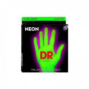 Struny DR Neon™ Hi-Def Green Electric K3 Coating 11-60 7-string (NGE7-11)