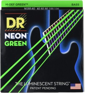 Struny DR Neon™ Hi-Def Green Bass K3 Coating 40-125 5-string (NGB5-40)
