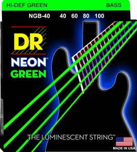 Struny DR Neon™ Hi-Def Green Bass K3 Coating 40-100 (NGB-40)