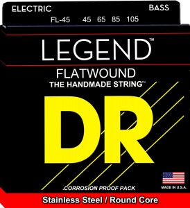 Struny DR Flatwound Legend™ Stainless Steel Round Core 45-105 (FL-45)