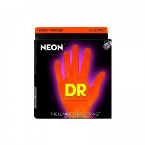 Struny DR Neon™ Hi-Def Orange Electric K3 Coating 11-60 7-string (NOE7-11)