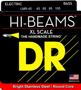 Struny DR Hi-Beams™ Stainless Steel Round Core X-Long Scale 45-105 (LMR-45)